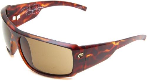 Electric Visual D. Payne Wrap Sunglasses,Matte Tortoise Shell Frame/Bronze Lens,One Size