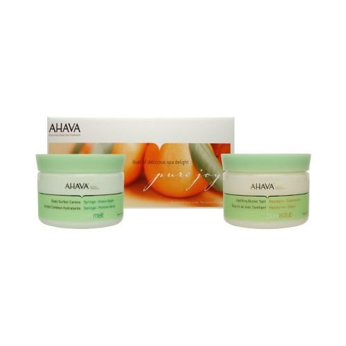 AHAVA Pure Joy Spa Rejuvenating Set (Syringa & Green Apple) 2 Piece Set