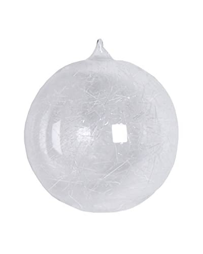 Sage & Co. Frosted Ice Web 4.75 Ball Ornament