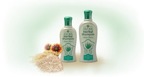 Wanthai Extra Herbal Shampoo With Aloe-Vera, Vitamin C&E, Cocamilds And Protein For Normal-Oily Hair 300 Ml