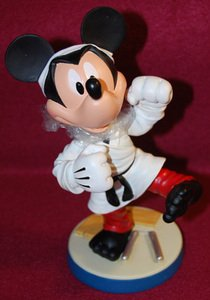 Disney Mickey Mouse Martial Arts Bobblehead Medium