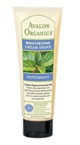 Avalon Organics Moisturizing Cream Shave, Peppermint 8 fl oz (225 ml)