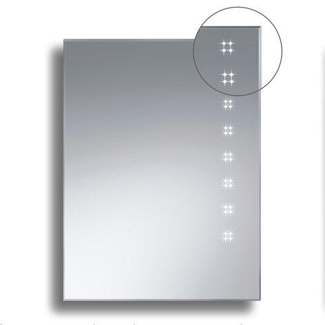 Badspiegel BELEUCHTET Wandspiegel BELEUCHTUNG Spiegel LICHT Badwandspiegel aus Kristall YJ-693