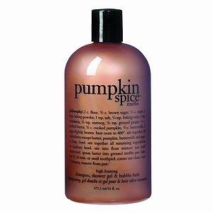 Philosophy Pumpkin Spice Muffin Shampoo, Shower Gel and Bubble Bath 16 oz