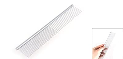 Beauty Tool Metal Grooming Rake Comb Silver Tone for Pet Cat Dog