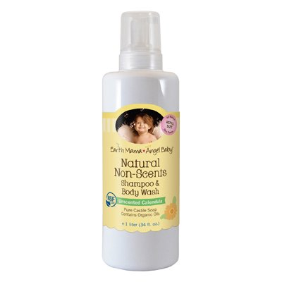 Earth Mama Angel Baby Shampoo And Body Wash - Organic Unscented - 34 Oz