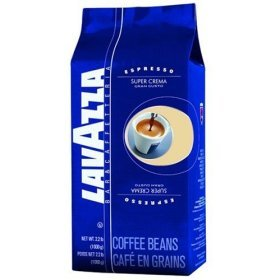 Lavazza Coffee Espresso Super Crema, Whole Beans, Pack of 6, 6 x 1000g