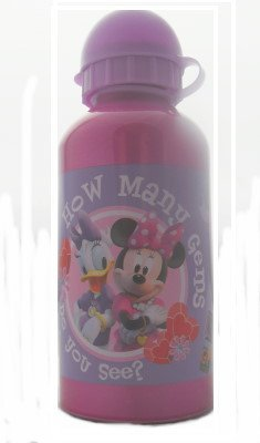 Mickey Mouse Disney Minnie Mouse Girls Aluminium Water Bottle 500Ml front-497254