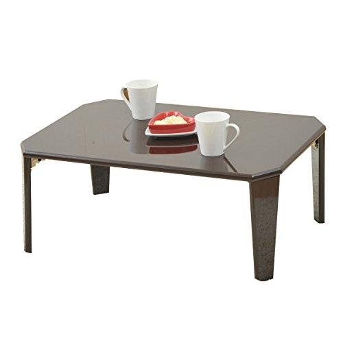山善(YAMAZEN) 折れ脚 ローテーブル(75×50) ダークブラウン TWL-7550(DBR)