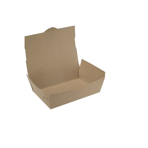 Southern Champion Tray 0731 #1 ChampPak Classic Take-Out Container, Kraft Paperboard with Poly Coated Inside, 4-3/8