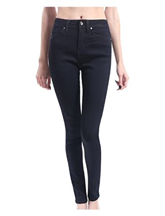 RubyK Womens Premium High Waisted Skinny Jean Pants with Stretch