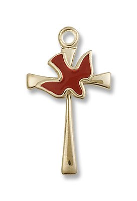 Gold Filled Cross / Holy Spirit Pendant with 18