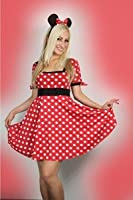 Sexy Womens Minnie Mouse Fancy Dress Costume Outfit S M L