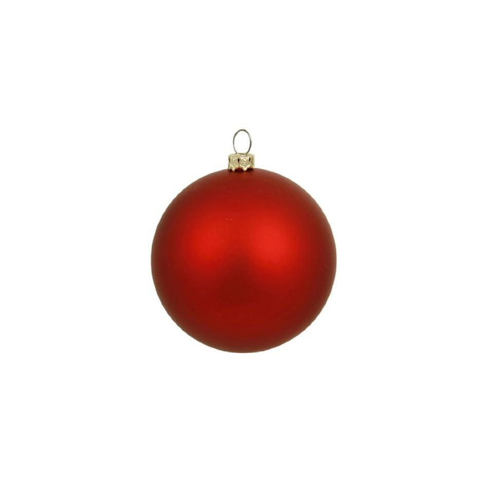 Matte Red Indoor/Outdoor Shatterproof Christmas Ball Ornament 4 (100mm)