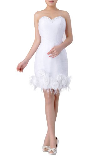 fee0bc1e98a7 Tulle Natrual Strapless Short Sheath Wedding Dresses, Color Ivory ,16W