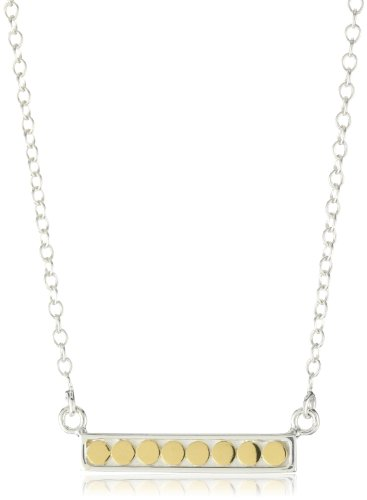"""Anna Beck Designs """"Bali"""" Reversible Bar 18k Gold Plated Necklace, 16"""""""