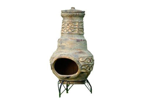 Terrassenofen-Gartenkamin-Terracotta-73-cm-Gartenofen-Stahlgestell-Feuerffnung-205-x-13-cm-robust-15-kg-Abdeckung