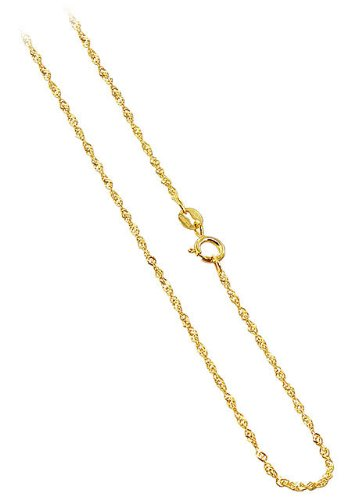 10 KT Yellow Gold Baby Singapore 10K Chain 16″ 18″ 20″ 22″ 24″ Necklace