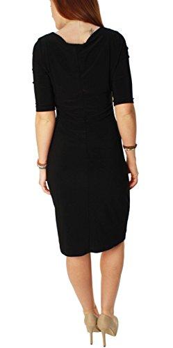 Ralph Lauren Green Label Womens Scoop Neck Half Sleeve Little Black Dress-4