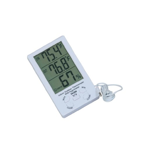 Dehang-LCD-Temperature-Humidity-Meter-Thermometer-Hygrometer-Indoor-Outdoor-with-15m-Sensor-Wire