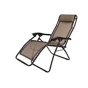 Amazon Folding Camping XL Recliner Chair Beige RV