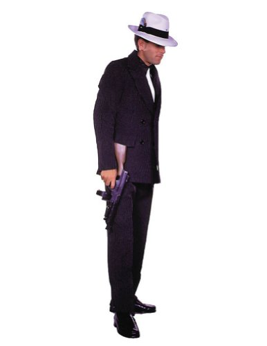 Gangster Suit Brown Sm Adult Mens Costume