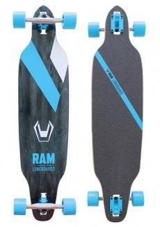 Longboard RAM Solitary schwarz/blau