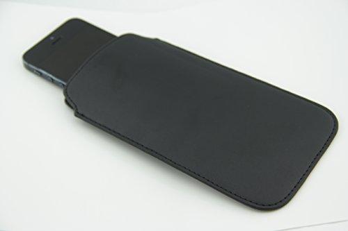 Handytasche für Samsung GALAXY S4 mini i9195i 8GB black Android Smartphone - Universelles 4.7 - 5.5 Zoll 11,93 - 15,81cm - Premium Luxury Handy Case Hülle Cover Tasche Etui Softcase Schale - schwarz PU Leder