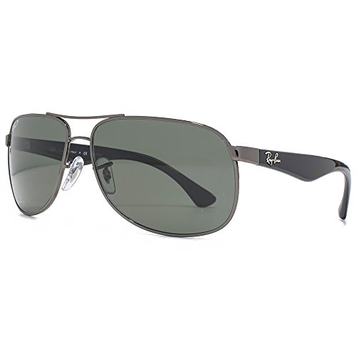 Ray-Ban Occhiali da sole classici Metal in canna di fucile verde polarizzata RB3502 004/58 61 61 Green Polarised