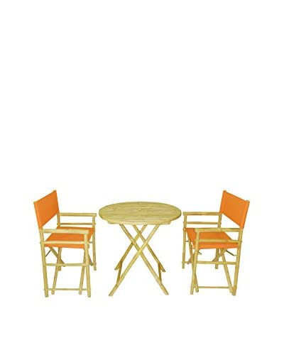 ZEW, Inc. Round Table & Director Chair Set, Pottery