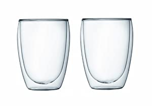 Bodum Pavina Double Wall Glass, 12-Ounce, Set of 2