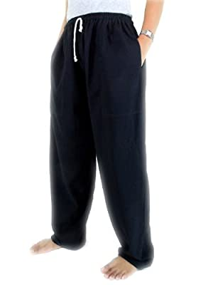 CandyHusky's Cotton Men Womens Sport Running Fitness Yoga Pants Elastic Waist