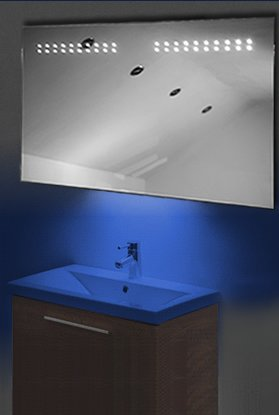 Ambient Ultra-Slim Led Bathroom Mirror With Demister Pad & Sensor K14B