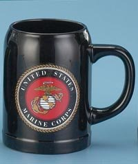 United States Marine Corps Stoneware 17 Ounce Mug Usmc Gift Boxed