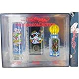 Ed Hardy Variety By Christian Audigier Men 3 Piece Mens Set With Ed Hardy Born Wild & Ed Hardy Villain & Ed Hardy Love & Luck And All Are Edt Spray 1 Oz