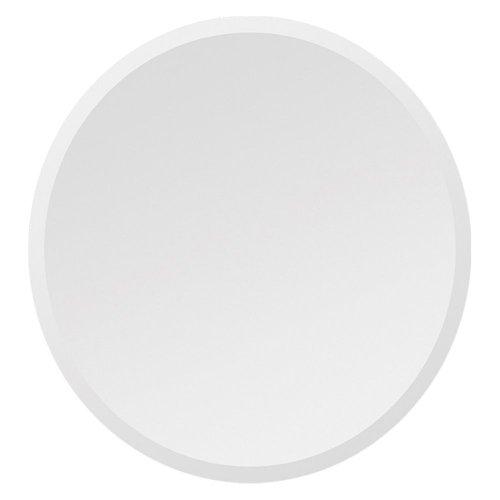 Ren-Wil Ren-Wil Frameless Beveled Round Wall Mirror - 30 Diam.In., Mirrored, Glass front-52581