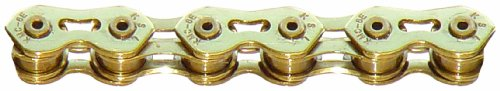 KMC K710SL SuperLite Kool Bicycle Chain (1-Speed, 1/2 x 1/8-Inch, 100L, Ti-N Gold)
