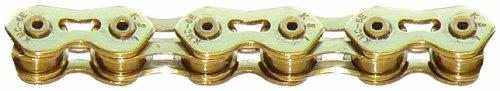 KMC K710SL SuperLite Kool Bicycle Chain (1-Speed, 1/2 x 1/8-Inch, 100L, Ti-N Gold)
