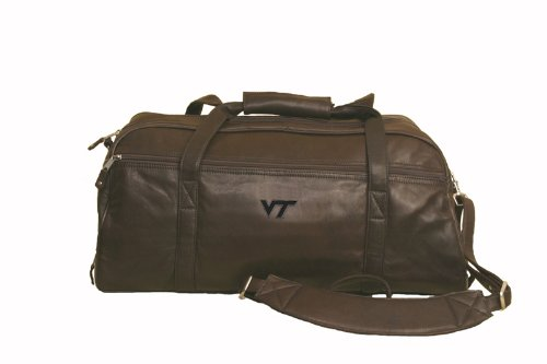 Virginia Tech - Marble Canyon Leather Sport Duffel - Brown