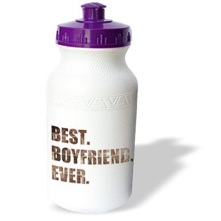 Wb_179713_1 Inspirationzstore Typography - Grunge Best Boyfriend Ever Brown Grungy Text Anniversary Valentine Day - Water Bottles
