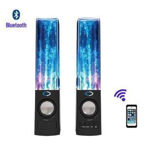 Soundsoul Wireless Bluetooth Music Fountain Dancing Water Speakers/Apple Speakers(Black)