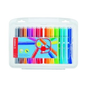 Stabilo Cappi Fibre Tip Felt Coloured Pens - Pack of 24