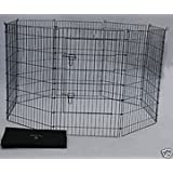 BestPet Pet Playpen Dog Exercise Pen, 24-Inch/30-Inch/36-Inch/42-Inch and 48-Inch, Black/Blue/Pink and Zinc