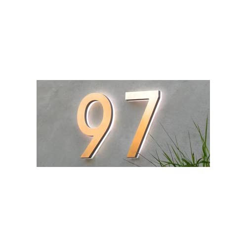 Luxello modern led house number 5 outdoor by Led house numbers