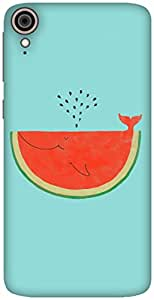 The Racoon Lean printed designer hard back mobile phone case cover for HTC Desire 828. (Watermelon)