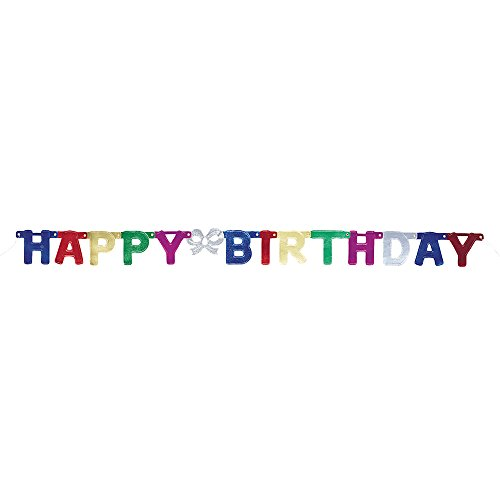 5ft Metallic Happy Birthday Banner
