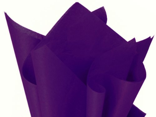 "Purple Tissue Paper 15"" X 20"" - 100 Sheets front-1032533"