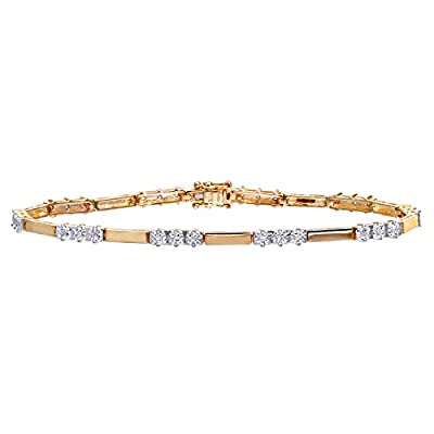 Ariel 9ct 0.10ct Diamond Trioligy Bracelet