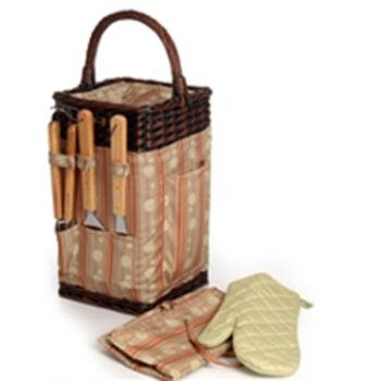 The Classic BBQ Basket *** Product Description: The Classic BBQ Basketsquare Shaped BBQ Basket With Three BBQ Tools, One BBQ Mit, Apron, And Insulated Food Compartment Content: 1 Set Of Three BBQ Tools1 Pair Gloves1 Apron1 Cooler Bag Size(Inch): ***