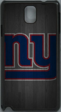 NFL New York Giants Wood Look PC Hard Shell Black Skin Cover Case for Samsung Galaxy Note 3 N9000 by Qinchao Sports #58